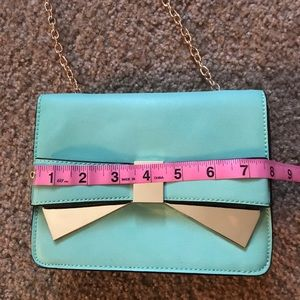 Charming Charlie Bags - Turquoise gold chain purse